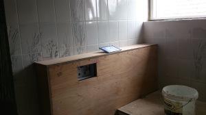 opbouw nieuwe badkamer